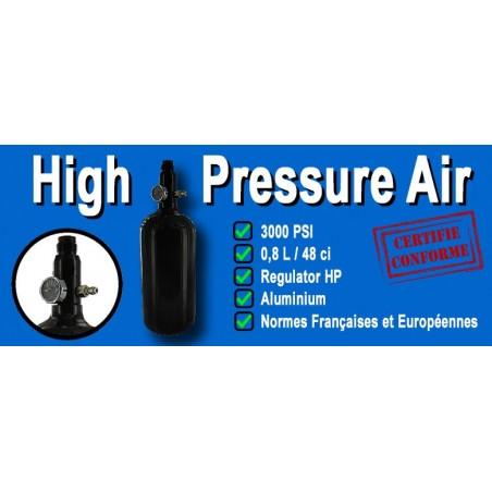 Bouteille 0.8L Alu pour système HPA Airsoft
