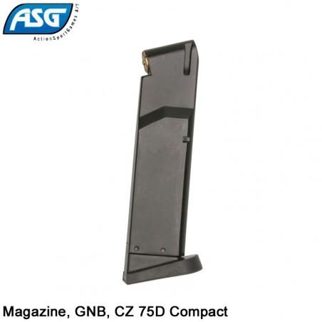 Chargeur réplique poing, GNB, Gaz, CZ 75D Compact