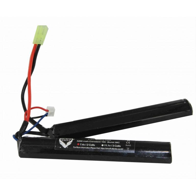 3200mah 7.4v nunchuck type liion battery