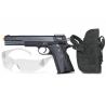 Colt 1911 Pistol kit avec holster et lunettes de sécurité
