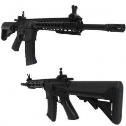 COLT M4A1 AEG garde main moyen Keymood 6mm (+bat/char) 300BB's