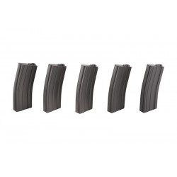 Set of 5 Real-Cap 30 BB Magazines for M4-M16 Replicas - Grey