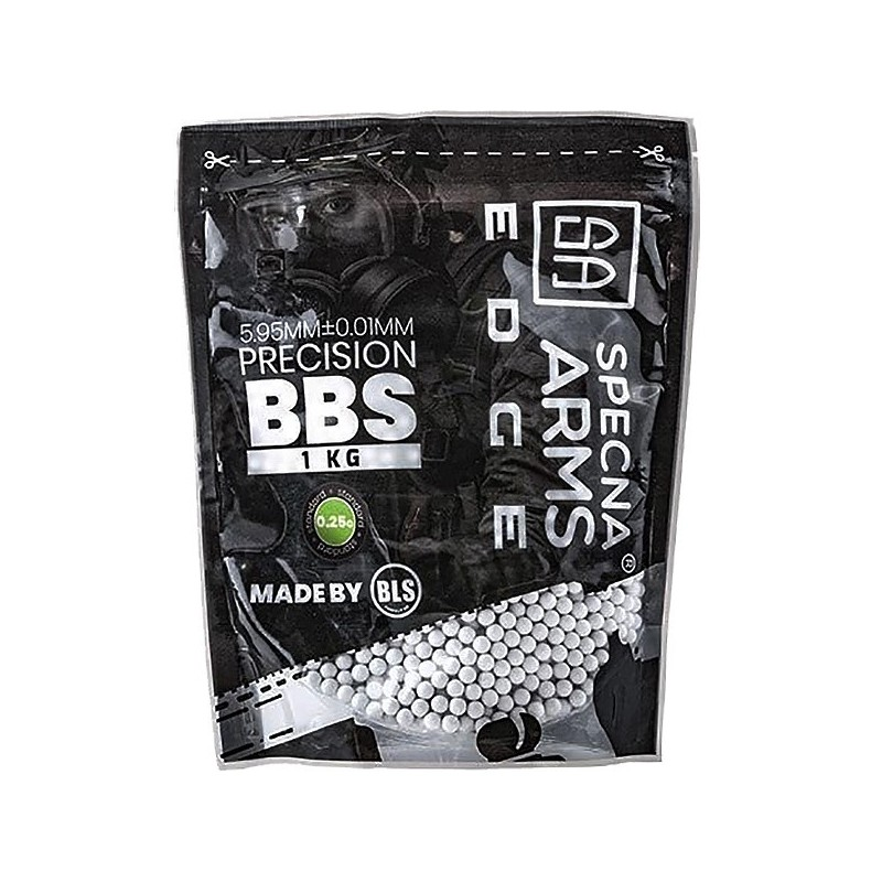 0.25g Specna Arms EDGE Precision BBs - 1kg - White