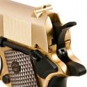 WE Full Metal M1911 GOLD ( Brown Grip w/Marking )