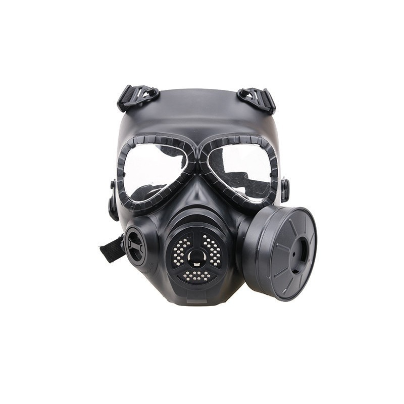 Sweat prevent mist fan mask - black
