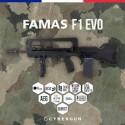 FAMAS EVO AEG Nylon Fibre Mosfet 300BBs 1.2J