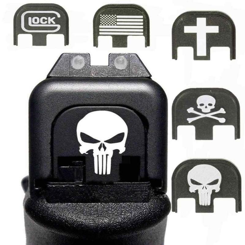 Plaque arrière Glock en aluminium