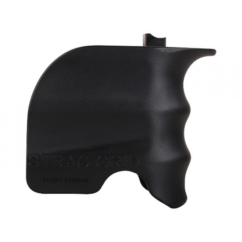 Polymer grip to the magazine well Black